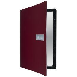 Securit Speisekarten-Mappe ROYAL, DIN A4, aus Leder, rot