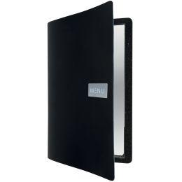 Securit Speisekarten-Mappe RAW, DIN A4, aus Leder, schwarz