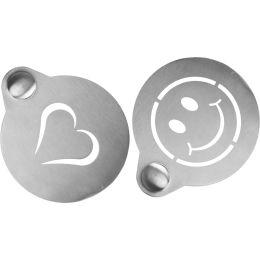 Securit Kaffee-Schablonen-Set, aus Edelstahl