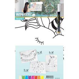 Securit Fensterschablonen-Set WINDOODLE, Geburtstags-Motiv