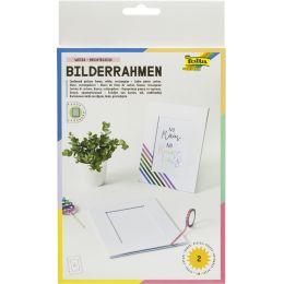folia Bilderrahmen-Set, aus Pappe, 10 x 15 cm, weiß