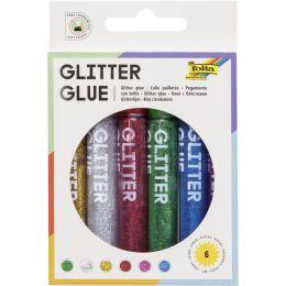 folia Glitzerkleber Glitterglue, 9,5 ml, farbig sortiert