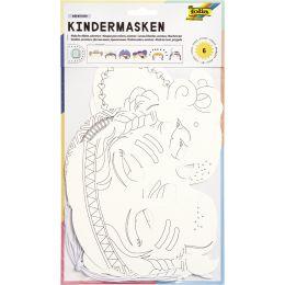 folia Kindermasken Themen, aus Pappe, 6 Motive sortiert