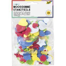 folia Moosgummi-Stanzteile, 150 Teile sortiert