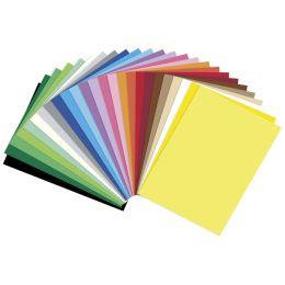 folia Tonpapier, DIN A4, 130 g/qm, farbig sortiert