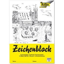 folia Zeichenblock, DIN A4, 120 g/qm, 10 Blatt