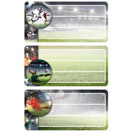 HERMA Buchetiketten Football, beglimmert