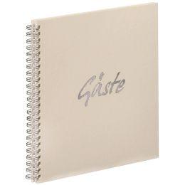 PAGNA Gäste-Spiralbuch Gäste, weiß, 40 Seiten