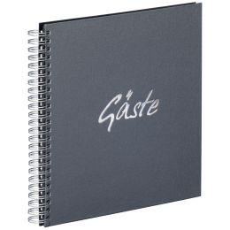 PAGNA Gäste-Spiralbuch Gäste, anthrazit, 40 Seiten