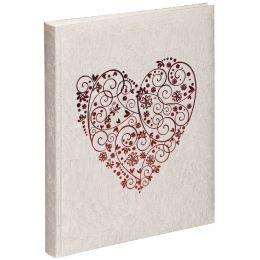 PAGNA Hochzeitsalbum sweet heart, rot, 48 + 4 Seiten