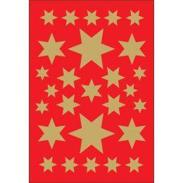 HERMA Weihnachts-Sticker DECOR Sterne, sortiert, gold