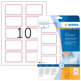 HERMA Namens-Etiketten SPECIAL, 80,0 x 50,0 mm, roter Rand