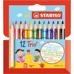 STABILO Dreikant-Buntstifte Trio dick, kurz, 12er Etui