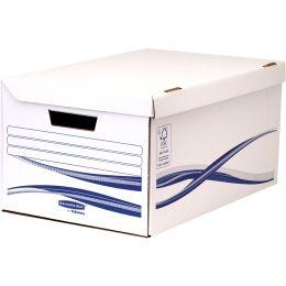 Fellowes BANKERS BOX Basic Archiv-Klappdeckelbox Maxi, blau