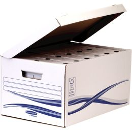 Fellowes BANKERS BOX Basic Archiv-Set Maxi plus, blau