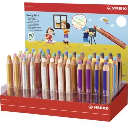 STABILO Multitalentstift woody 3 in 1, 48er Karton-Display