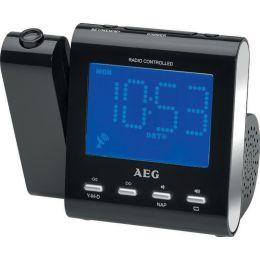 AEG UKW Funk-Uhrenradio MRC 4122, mit Projektion, schwarz