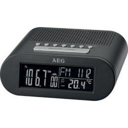 AEG UKW Funk-Uhrenradio MRC 4145 F, LED-Anzeige, schwarz