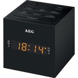 AEG UKW Uhrenradio MRC 4150, LED-Display, weiß