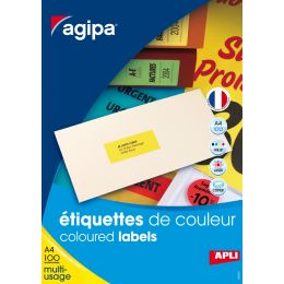 agipa Adress-Etiketten, 70 x 31 mm, gelb
