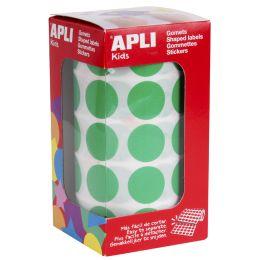 agipa apli Kids Sticker Creative Rund, auf Rolle, grün