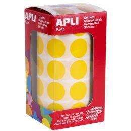 agipa apli Kids Sticker Creative Rund, auf Rolle, gelb
