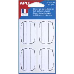 agipa Buchetiketten, weiß/grau, 37 x 55 mm, liniert