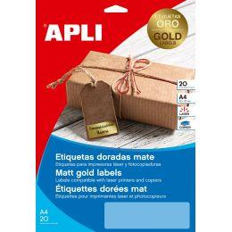 agipa Kennzeichnungs-Etiketten, 38,1 x 21,2 mm, gold