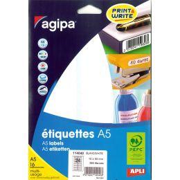 agipa Universal-Etiketten, Durchmesser: 24 mm, rund, weiß
