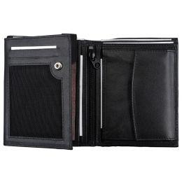 Alassio Kombi-Geldbörse, Hochformat, Nappaleder, schwarz