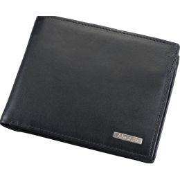Alassio Kombi-Geldbörse, Leder, im Querformat, schwarz