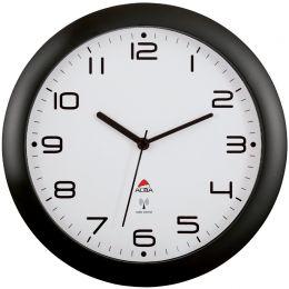 ALBA Funkwanduhr HORNEWRC N, schwarz, Durchmesser: 300 mm