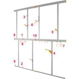 allit Abschlussprofil StorePlus Flex A, Breite: 750 mm