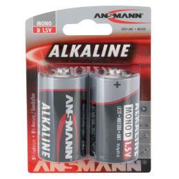ANSMANN Alkaline Batterie RED, Mono D, 2er Blister