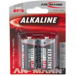 ANSMANN Alkaline Batterie RED, Baby C LR14, 2er Blister