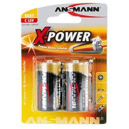 ANSMANN Alkaline Batterie X-Power, Baby C, 2er Blister