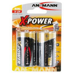 ANSMANN Alkaline Batterie X-Power, Mono D, 2er Blister
