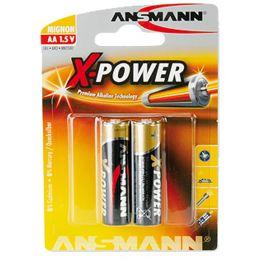 ANSMANN Alkaline Batterie X-Power, Mignon AA, 2er Blister