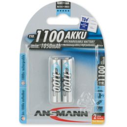 ANSMANN NiMH Akku Premium, Micro AAA, 1.100 mAh, 2er Blister