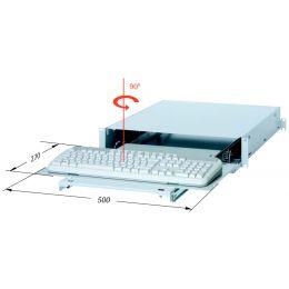 apranet 19 Tastatureinschub 2 HE, RAL 7035 lichtgrau