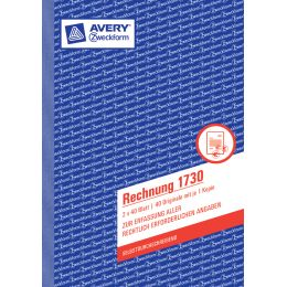AVERY Zweckform Formularbuch Rechnung, RC, A5, 100 Blatt