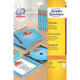 AVERY Zweckform Inkjet CD-Einleger, 200 g/qm, weiß