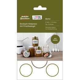 AVERY Zweckform LIVING Einmach-Etiketten mit Frischesiegel