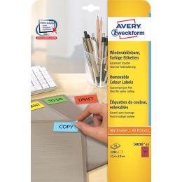 AVERY Zweckform Mini-Etiketten, 45,7 x 21,2 mm, rot