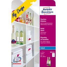 AVERY Zweckform My Design Inkjet Flaschen-Etiketten