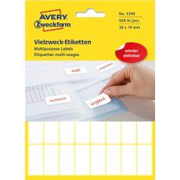 AVERY Zweckform Vielzweck-Etiketten, 38 x 24 mm, ablösbar