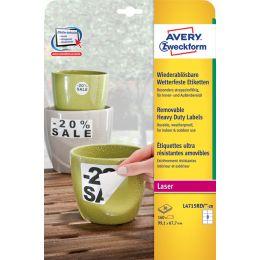 AVERY Zweckform wetterfeste Etiketten, 99,1 x 139 mm