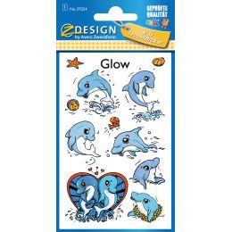 AVERY Zweckform ZDesign Leucht-Sticker Delfine