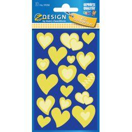 AVERY Zweckform ZDesign Leucht-Sticker Herz