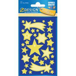 AVERY Zweckform ZDesign Leucht-Sticker Sterne